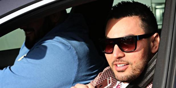 Salim Mehajer leaving his house in Lidcombe in July. Photo / Australia
