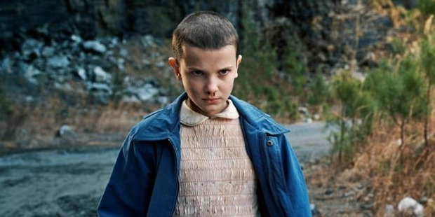 Loading Millie Bobby Brown plays Eleven in Netflix series, Stranger Things. Picture / Netflix