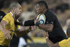 All Blacks winger Waisake Naholo in action against Australia. Photo / Brett Phibbs