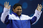 Samoan weightlifter Ele Opeloge. Photo / Getty