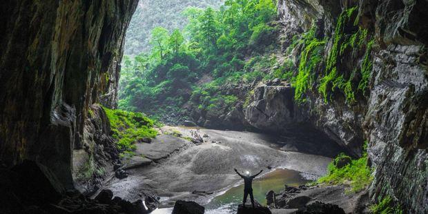 The massive cave dwarfs anyone who ventures inside. Photo / TripAdvisor traveller