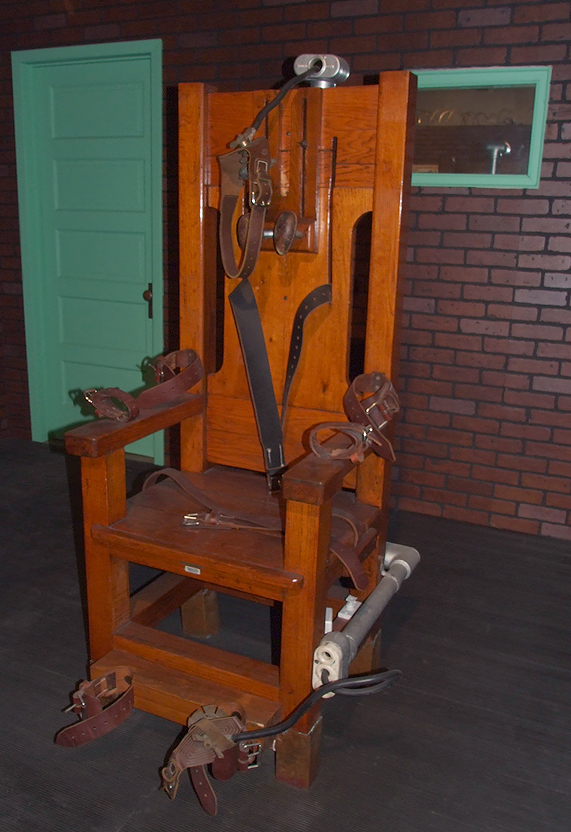 'Old Sparky', the famous Texas electric chair now on display for tourists at Texas Prison Museum in Huntsville. Photo / Lori Smith, Flickr