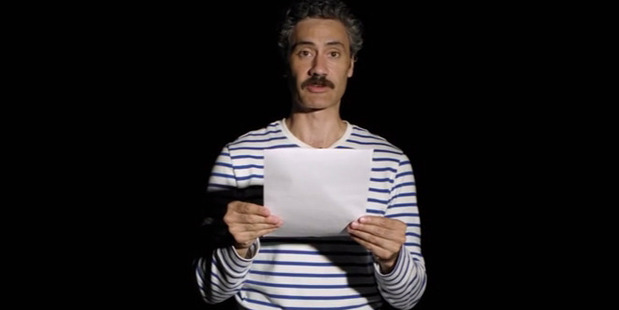 Taika Waititi reads out the real struggles of one Kiwi girl. Photo / Youtube
