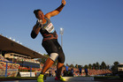 Valerie Adams competes in the women's shot put event at the Athletissima IAAF Diamond League. Photo / AP