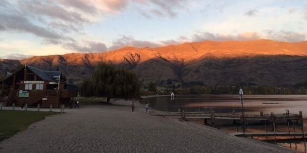Watching the sun rise in Wanaka was spectacular. Photo / Tennessy Weir