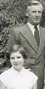 Dame Rosie Horton and her late father, Ellis George Moon.