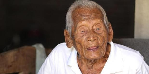 Mbah Gotho, from Java, has been named as the world's longest lived human at 145 years old. Photo / Liputan 6