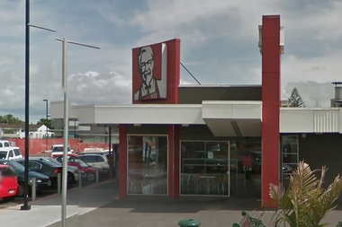 """Mangere East KFC staff said students from two different schools burst in and started fighting - """"they picked up chairs and everything""""."""