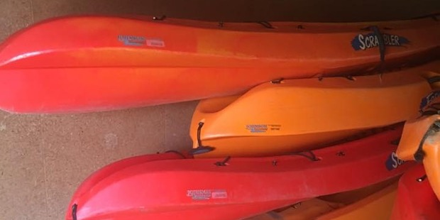 The kayaks stolen were seem to these ones at the club. Photo / supplied