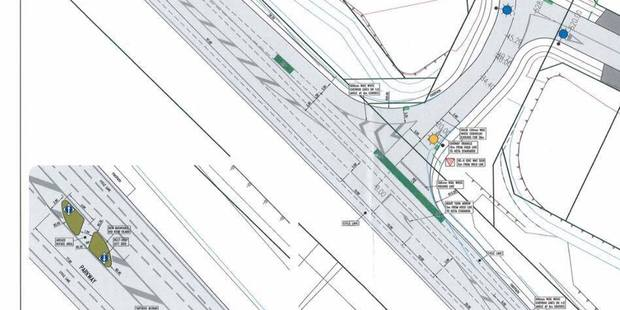 This planning drawing was posted by a local councillor to help explain why the traffic island had been placed on the road. Photo/ Facebook