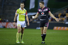 Warriors captain Ryan Hoffman questions the referee. Photo / photosport.nz