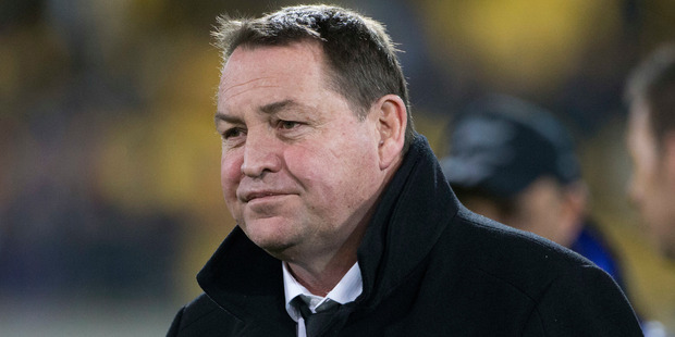 All Blacks coach Steve Hansen is hoping the Wallabies won't win back the Bledisloe before he leaves in 2019. Photo / Photosport
