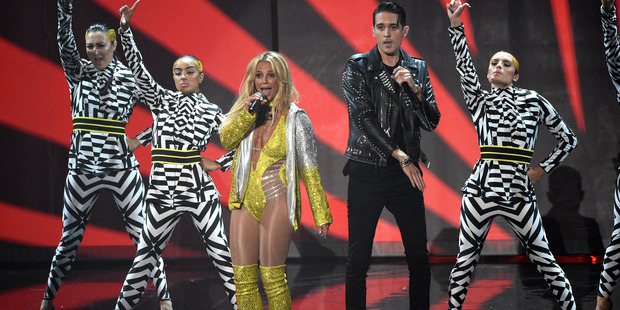 Britney Spears, and G-Eazy perform at the MTV Video Music Awards. Photo / AP