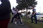 A policeman pushed a young man from his bicycle in South Auckland
