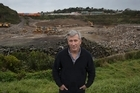 Greg McKeown of Three Kings Community Action spokesman - commenting on the Three Kings Quarry development.     29   August  2016    New Zealand Herald photograph by Brett Phibbs