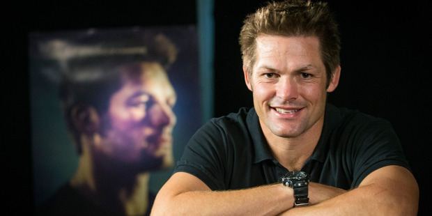 Richie McCaw during a one on one sitdown with Newstalk ZB host Kerre McIvor promoting his documentary film Chasing Great. 31 August 2016. New Zealand Herald photo by Jason Oxenham.