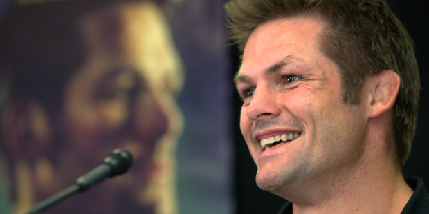 Loading Richie McCaw at the Chasing Great press conference at the Heritage. Photo / Jason Oxenham
