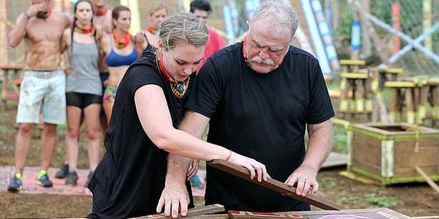 Des during a challenge on the television show Survivor Australia.