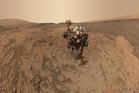 Images taken by Nasa's Curiosity Mars rover using a camera at the end of its robotic arm give an idea of the type of harsh conditions members of a Mars mission would face. Photo / Nasa