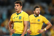 """Wallabies replacement halfback Nick Phipps is now at the centre of an """"unsportsmanlike"""" play during Saturday night's test. Photo / Getty"""