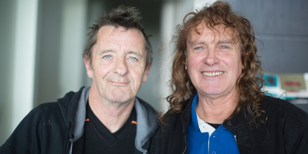 Phil Rudd and Allan Badger, who play together on Rudd's new album 'Head Job'. PHOTO/MICHELLE CUTELLI PHOTOGRAPHY
