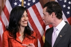 Huma Abedin and Anthony Weiner were a political couple on the rise. Photo / AP