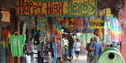 The colourful shops of Nimbin. Photo / Creative Commons image by Flickr user jeffowenphotos