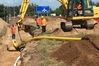 GROUND WORK: Installation of new arterial pipe at the new subdivisions in Papamoa.