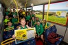 NZCT AIMS Games competitors from Mount Maunganui get a sneak preview of the free park and ride bus service available during the tournament next week.  Photo/Jamie Troughton/Dscribe Media