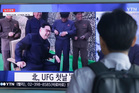 A man watches a TV news programme showing footage of North Korean leader Kim Jong Un, in Seoul, South Korea. Photo / AP