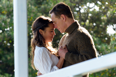 Alicia Vikander and Michael Fassbender in a scene from The Light Between Oceans, which was filmed in New Zealand. Photo/AP