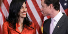 Anthony Weiner and his wife, Huma Abedin in happier days. Photo / AP