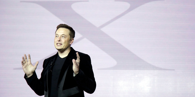 Elon Musk portrays himself as a visionary on a mission to rescue humankind with solar technology. Photo / AP