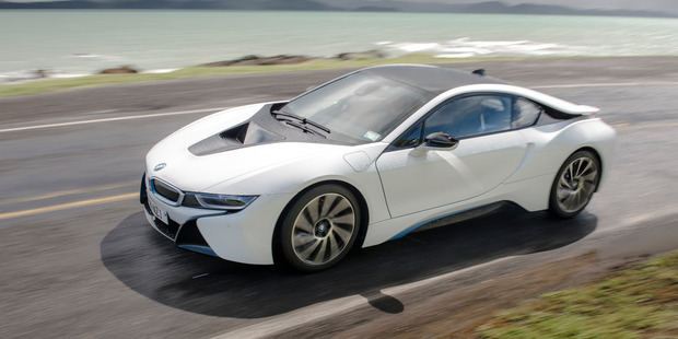 The BMW i8 supercar the Leicester players were gifted following their title-winning campaign last season. Photo / File
