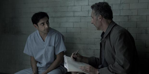 Riz Ahmed (Naz) and John Turturro as his lawyer in The Night Of...