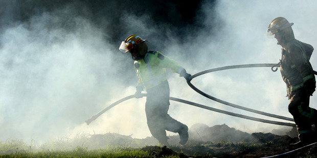 A fire is out of control at an Ohauiti property. Photo/file