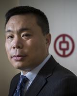 David Wang, chief executive of the  Bank of China. Photo / Greg Bowker