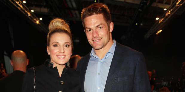 Gemma Flynn and Richie McCaw. Photo / Norrie Montgomery.