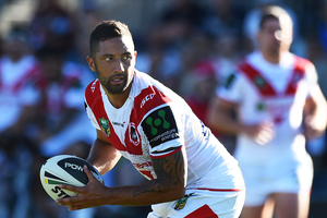 Benji Marshall of the Dragons will receive his NRL farewell match this Saturday. Photo / Photosport