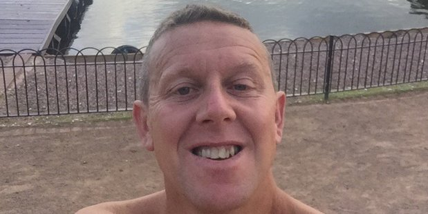 Nick Thomas, 45, from Ellesmere in Shropshire, was pulled unconscious from the water as he neared the end of the 21-mile endurance swim. Photo / Twitter/Nick Thomas