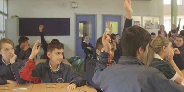 Kids at Essendon Keilor College who admit to having been bullied in the past. Photo / The FeedSource:SBS