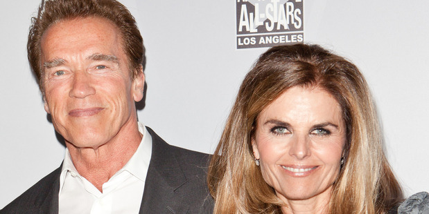 Arnold Schwarzenegger and his former wife, Maria Shriver. Photo / Getty