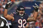 Stephen Paea during his tenure with the Chicago Bears. Photo / Getty Images