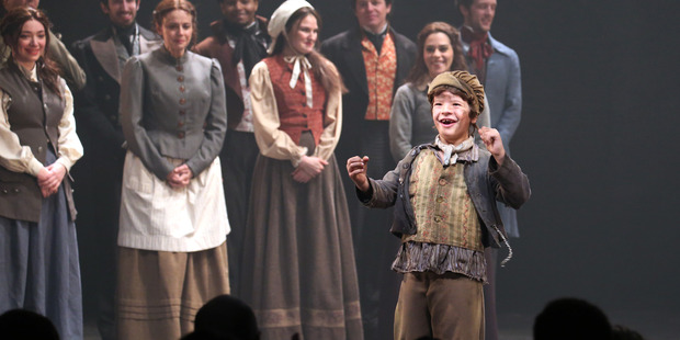 Gaten Matarazzo and Company during the Broadway Opening Night for Les Miserables, 2014 in New York City. Photo / Getty