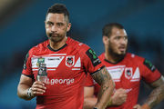 Benji Marshall of the Dragons looks dejected during the round 25 NRL match between the Gold Coast Titans and the St George Illawarra Dragons. Photo / Getty Images