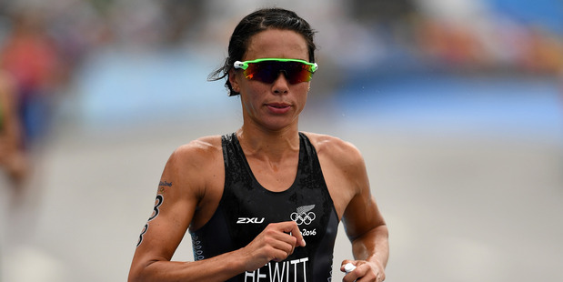 Andrea Hewitt during the triathlon at the Rio Olympics. Photo / Getty Images