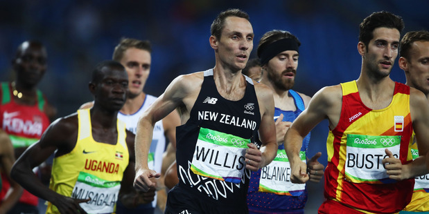 Nick Willis competes in the Men's 1500 metres final at the Rio Olympics. Photo / Getty Images