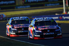 Shane Van Gisbergen and Jamie Whincup at Sydney Motorsport Park. Photo / Getty Images