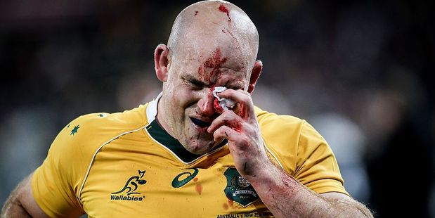 Stephen Moore of the Wallabies. Photo / Getty