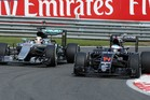 Lewis Hamilton and Fernando Alonso during the Belgian Formula One Grand Prix. Photo / Getty Images